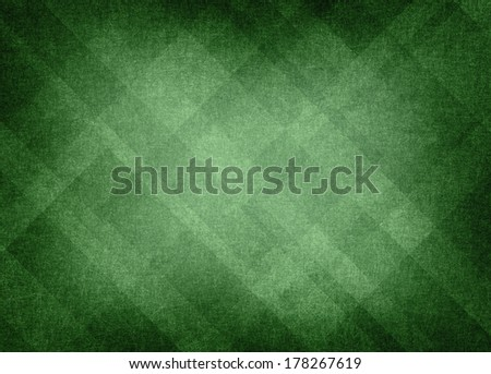 green plaid background abstract design, distressed background texture layout of diamond element pattern, bright center with vignette black border, green  - stock photo