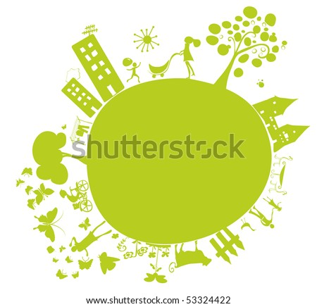 green planet - stock photo