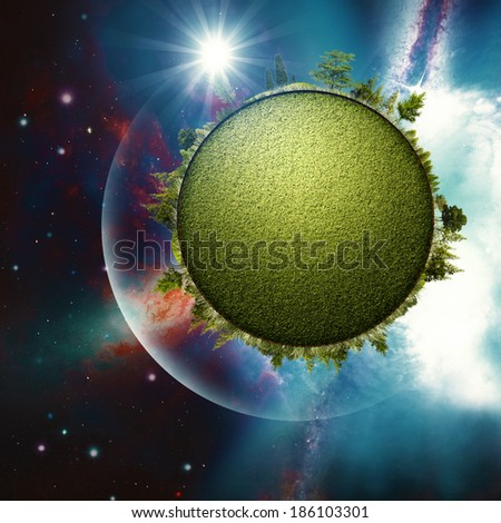 Green Planet. Abstract environmental backgrounds for your design - stock photo