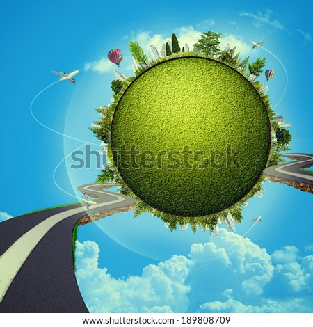 Green Planet, abstract vacation and travel backgrounds