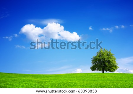 Green planet - Earth - stock photo