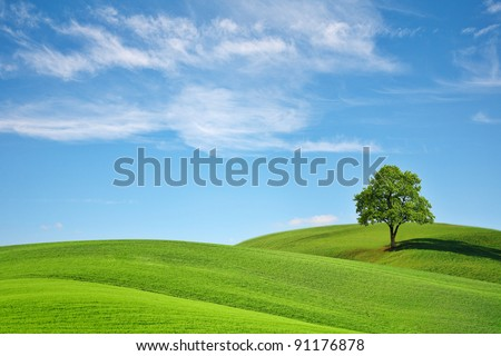 Green Planet Earth - stock photo