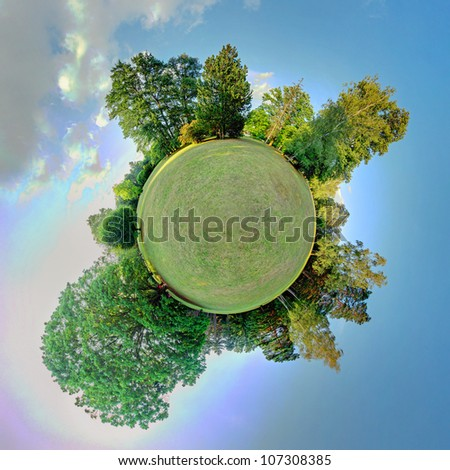 Green planet. Ecology and space concept - stock photo