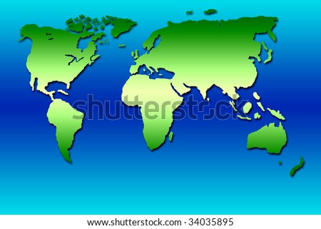 Green planisphere - stock photo