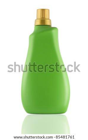 green Plastic bottle - stock photo