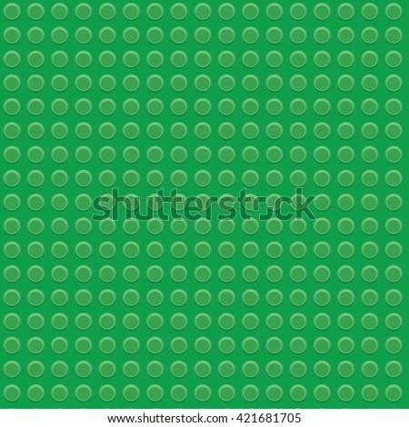 green plastic construction block pattern - stock photo