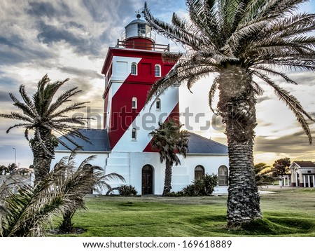 Green point light house in Cape Town - stock photo