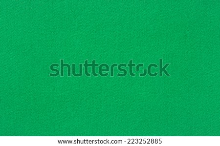 Green poker or pool table woolen baize - stock photo