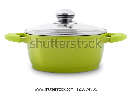 green pot - stock photo