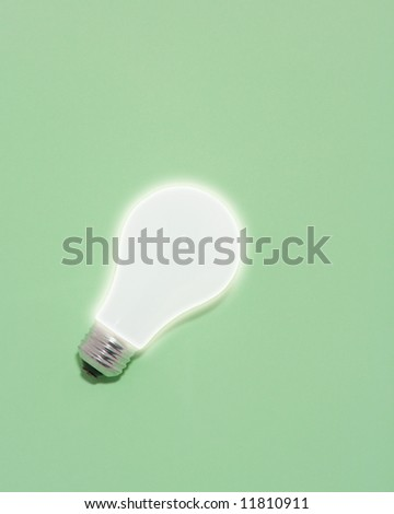 Green Powered Lightbulb - stock photo