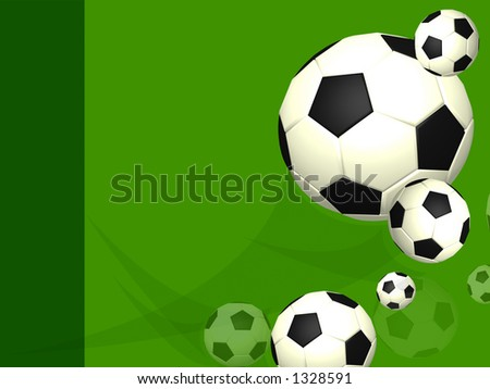 green professional soccer football layout