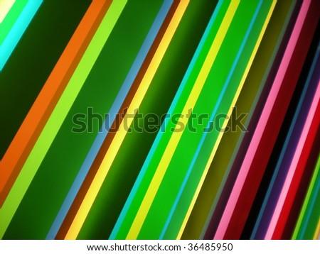Green, purple and yellow striped pattern background  stylish bright colors - stock photo