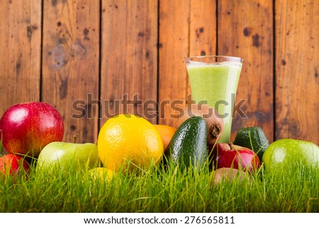 Green raw coctail - stock photo