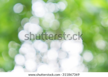 Green ray lights glitter defocused abstract background - stock photo