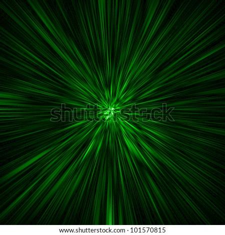 green rays background - stock photo