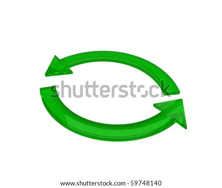 green recycle arrows - stock photo