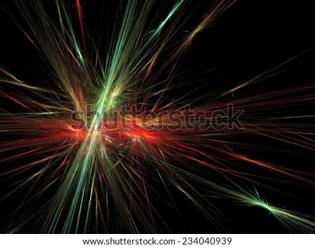 Green red bright abstract fractal effect light design background