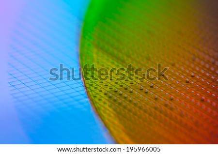 Green Red Wafer - stock photo