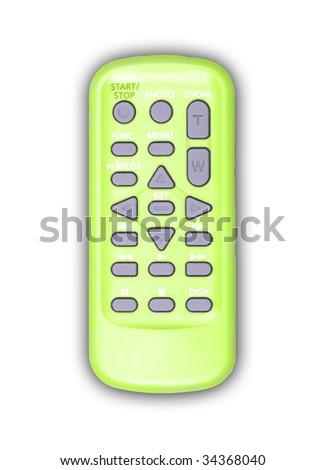 Green remote controller - stock photo