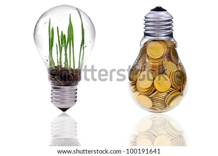 Green renewable energy farm it is near future - stock photo