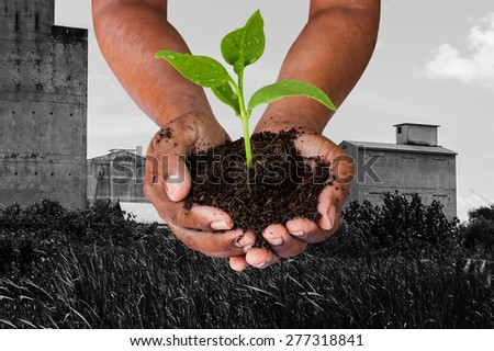 Green returns to nature,people, ecology, biology and environment concept - stock photo