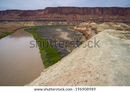 Green River, from Fort Bottom Trail - stock photo