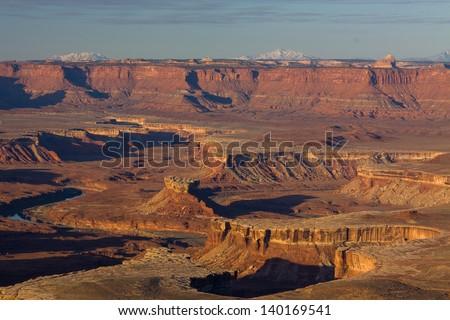 Green River Overlook, Canyonlands National Park, Utah - stock photo