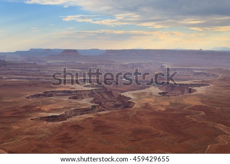 Green river overlook from Canyonlands National park, USA. Geological formations.
