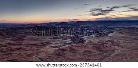 Green River Panorama - stock photo