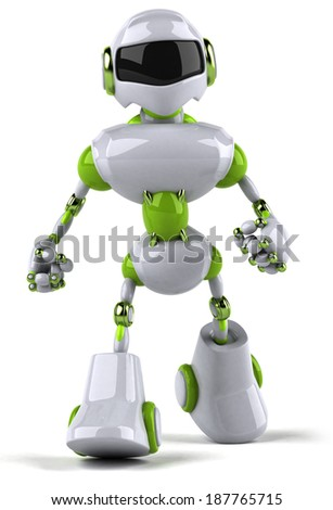 Green robot - stock photo