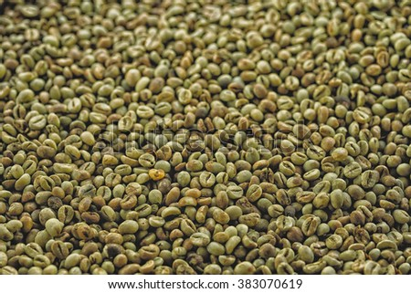 green robusta coffee beans from Bali