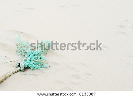 green rope - stock photo