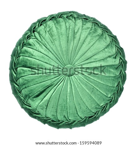 green round pillow - stock photo