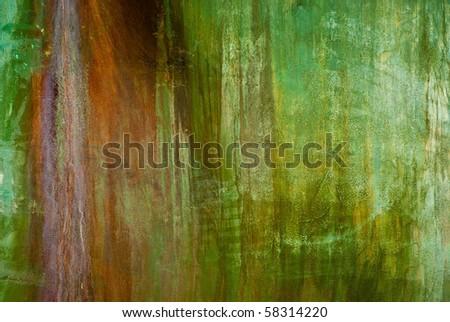 green rusty metal texture #2 - stock photo
