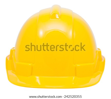 Green safety helmet on white background file includes a excellent clipping path - stock photo