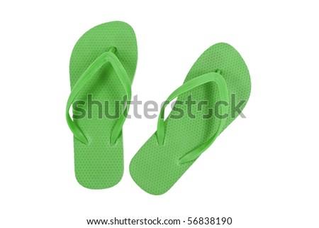 Green sandals - stock photo