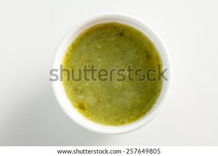 green sauce dip - stock photo