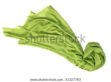 green scarf - stock photo
