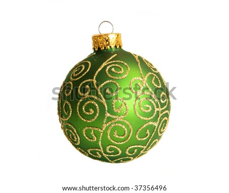 green scrolled ornament