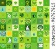 green seamless pattern.  illustration - stock photo