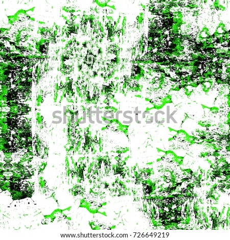 Green seamless texture old distressed painted wall. Texture of old worn surface. Vintage dirty background. Stylized texture banner, wallpaper. Backdrop with spots, cracks, dots, chips print or design