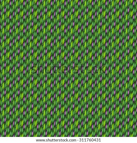 green seamless weaving texture pattern wood  or hair - stock photo
