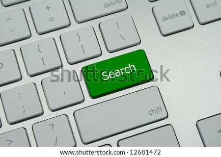 "Green ""Search"" button - stock photo"