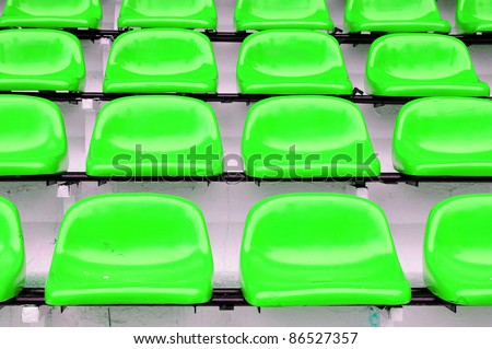 Green seat at Thep Hasadin Stadium in Bangkok, Thailand