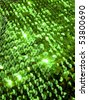 Green sequins close up. More of this motif & more textiles in my port. - stock photo