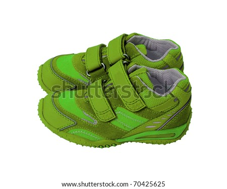 green shoes - stock photo