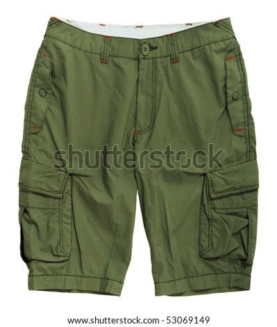 green shorts - stock photo