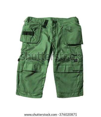 green shorts isolated - stock photo