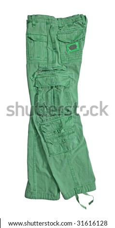 green shorts pants trousers