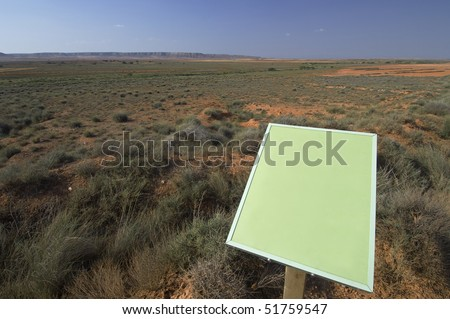green signal in an arid landscape - stock photo